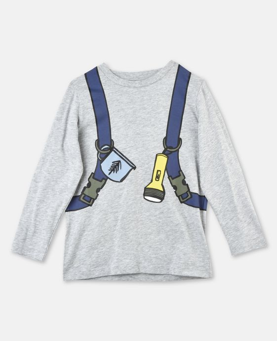 Barley Gray Backpack Print Top