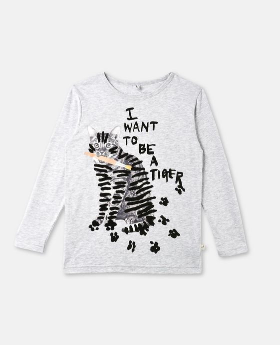 Bella Gray Cat Print