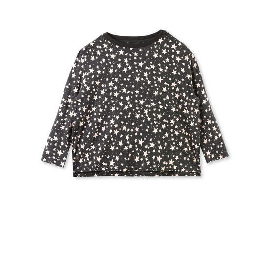 Farah Black Star Print Top