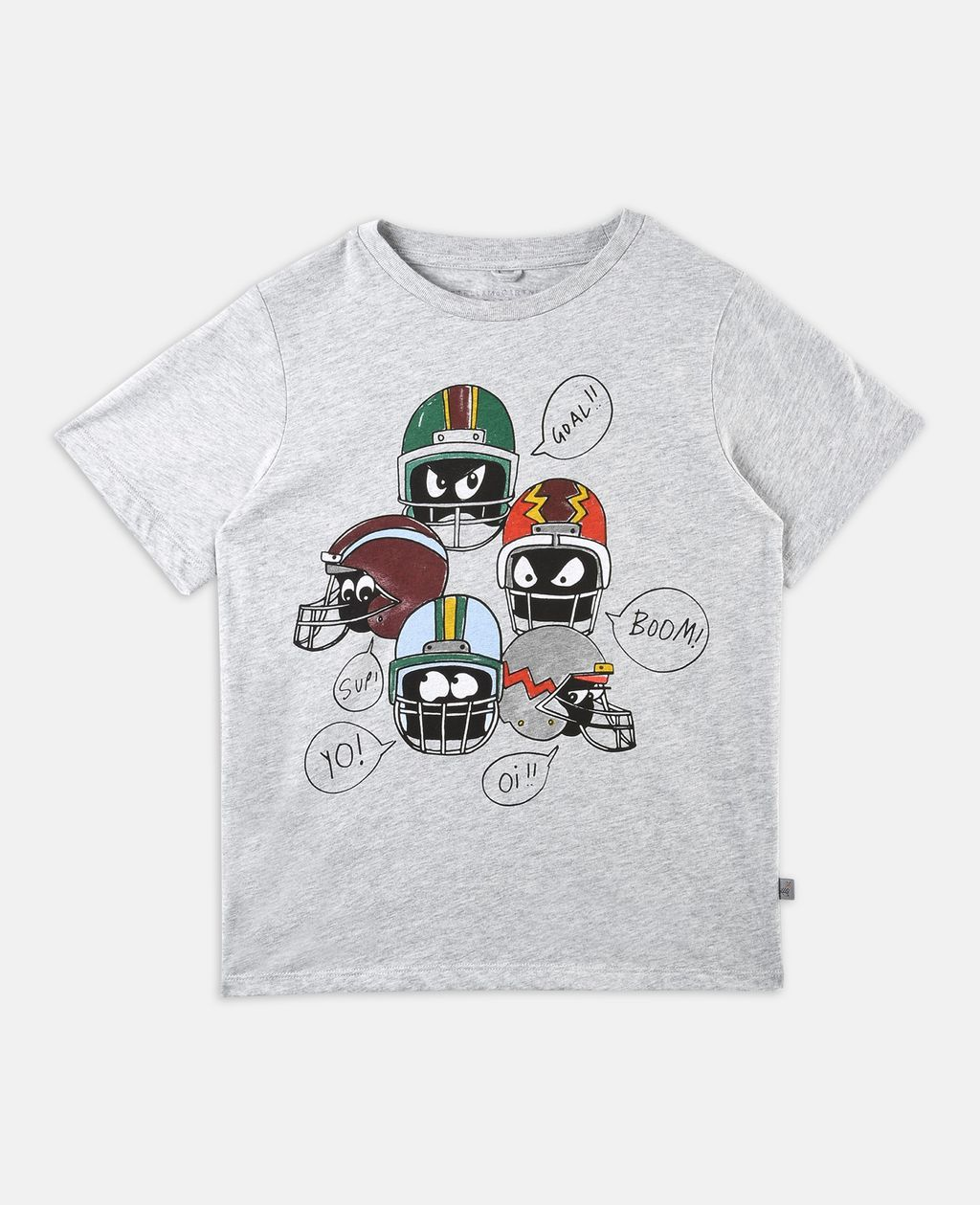 T-shirt Arrow avec imprimé casques - STELLA MCCARTNEY KIDS