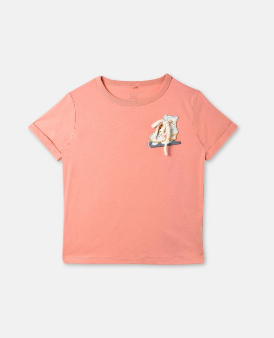 Lolly Pink Skate Patch T-shirt
