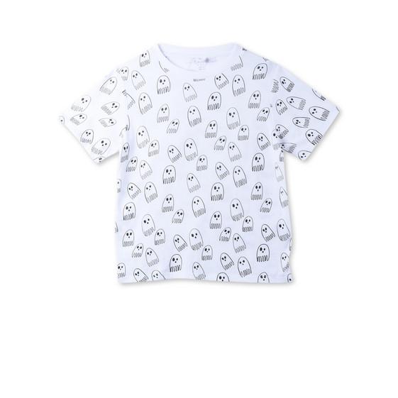 アロー ホワイト ゴースト プリント Tシャツ