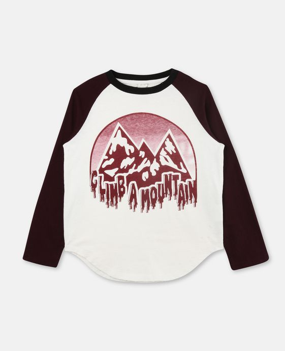 Buck White Mountain Print Top