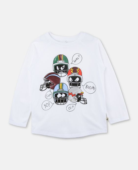 Max White Helmet Print Top