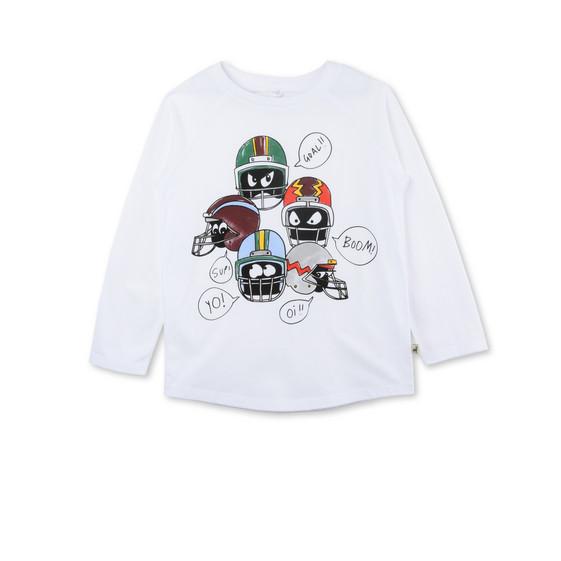 Max White Helmet Print Top