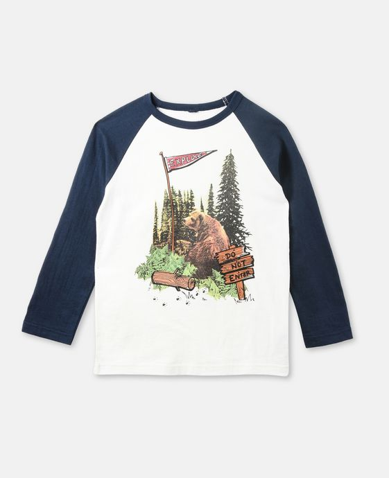Buck White Bear Print Top