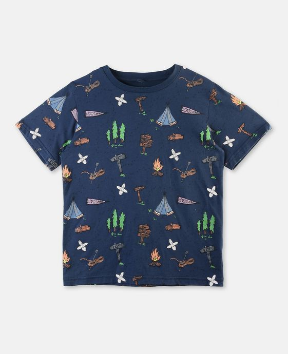 Arrow Blue Explorer Print T-shirt