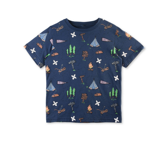 Arrow Blue Explorer Print T-shirt
