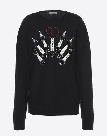 VALENTINO Jumper with Loveblade intarsia 12026767ST