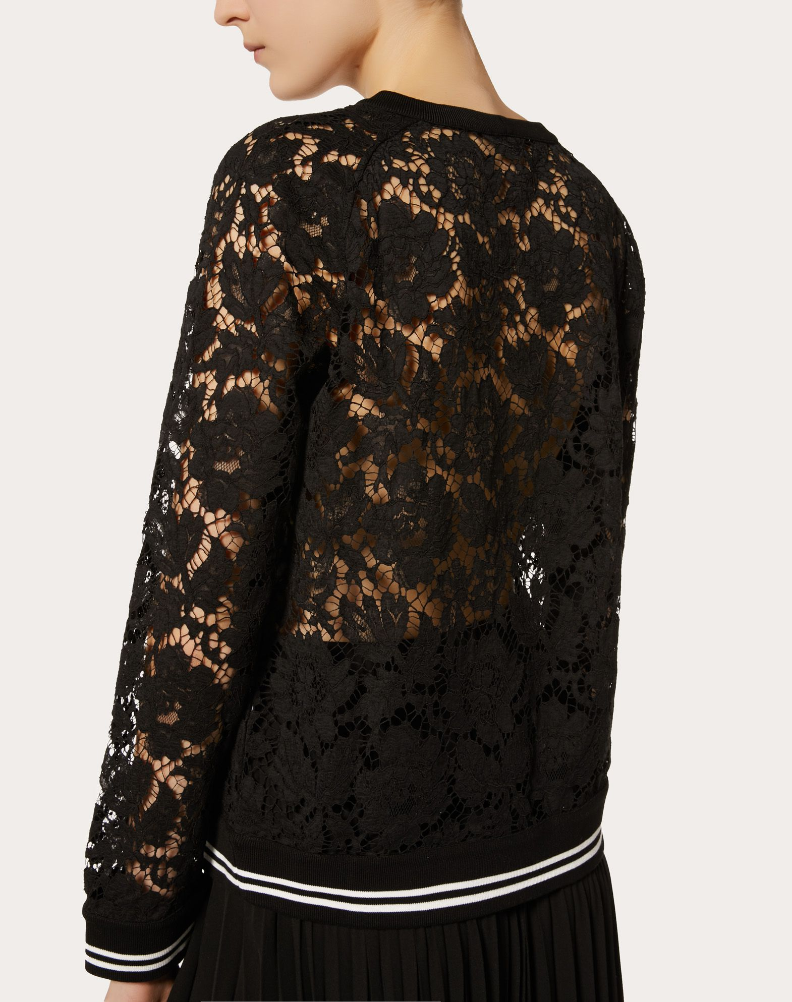 VALENTINO Heavy Lace sweatshirt Sweatshirt D a