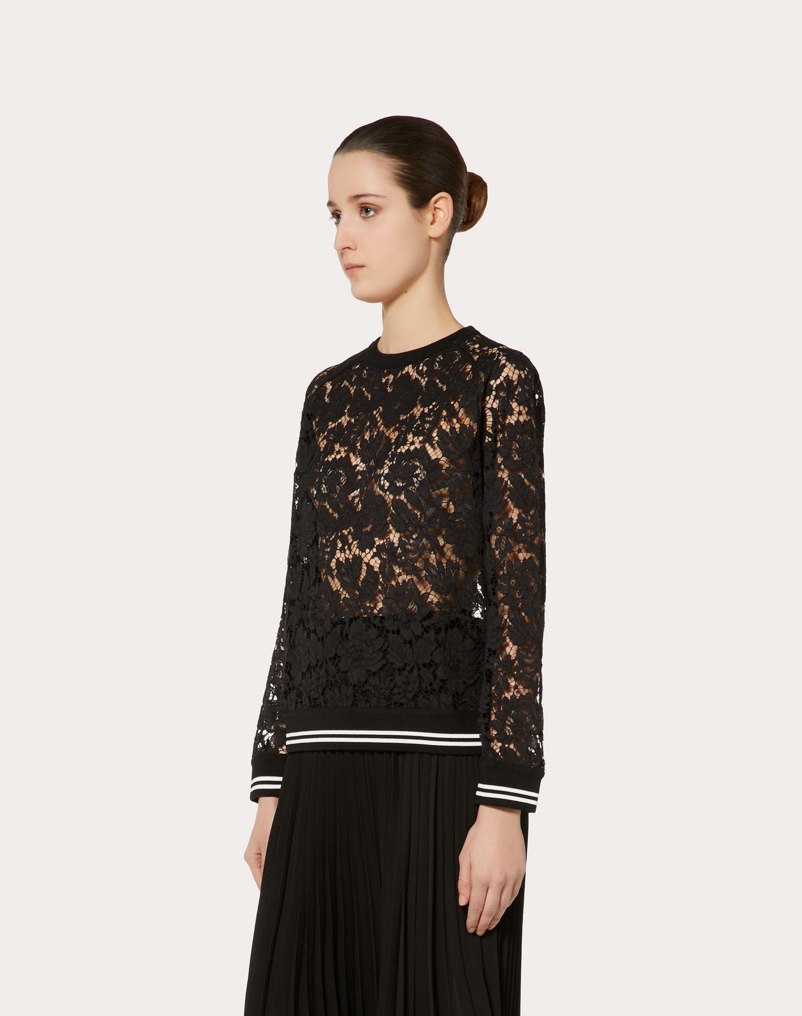 VALENTINO Heavy Lace sweatshirt Sweatshirt D d