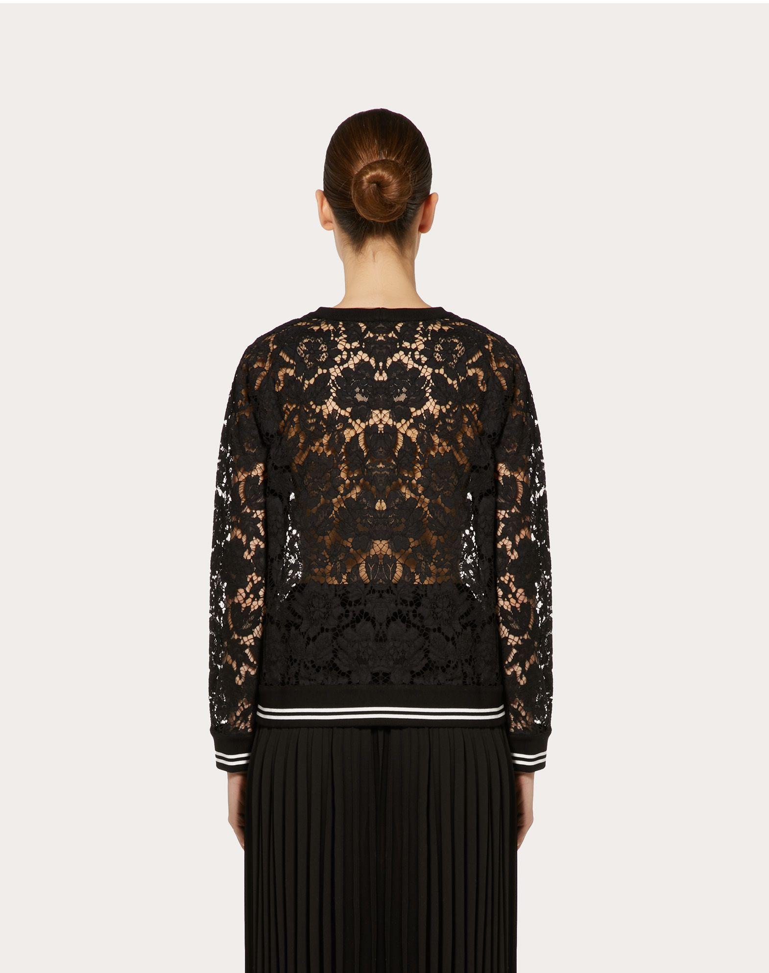 VALENTINO Heavy Lace sweatshirt Sweatshirt D e