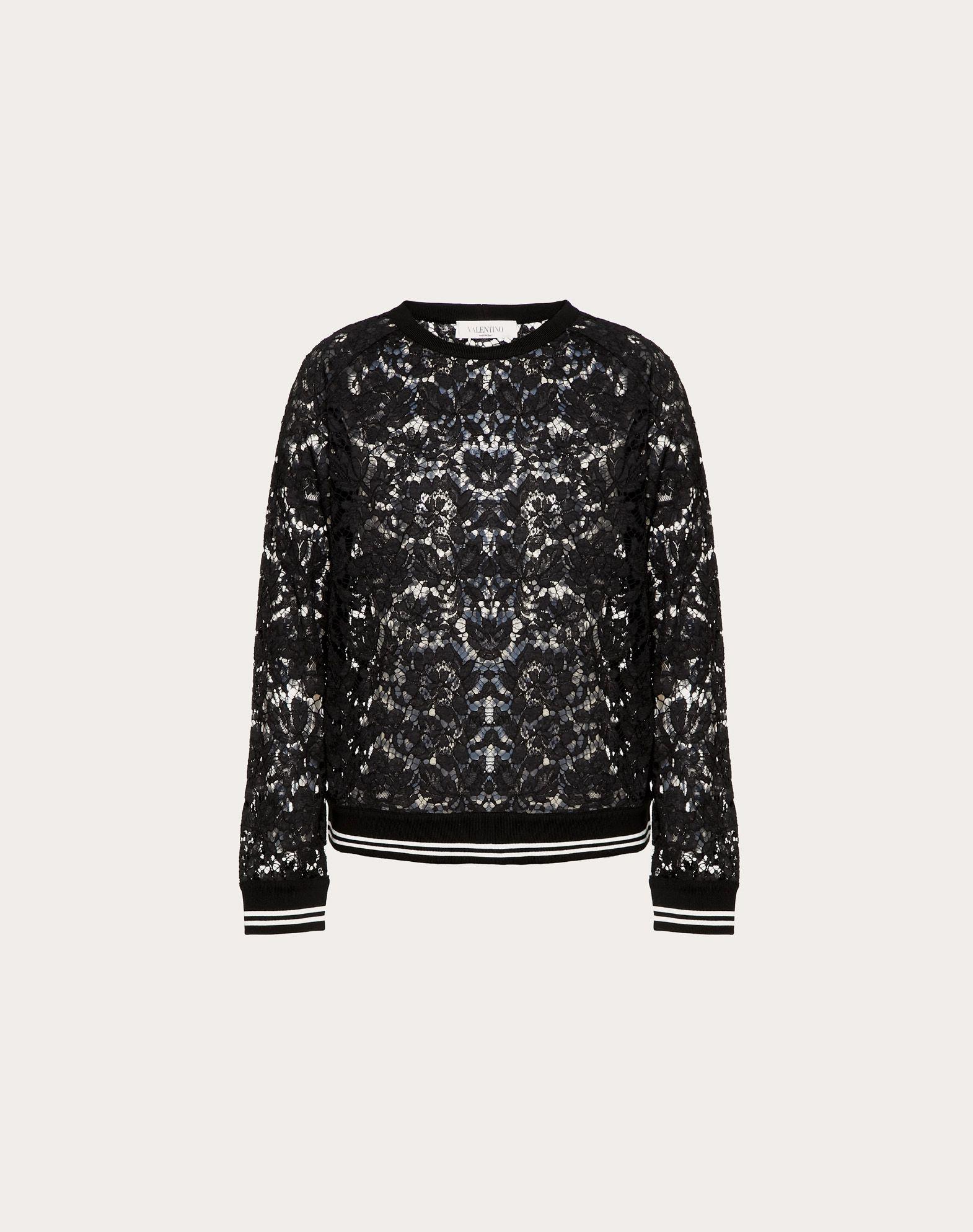 VALENTINO Heavy Lace sweatshirt Sweatshirt D f
