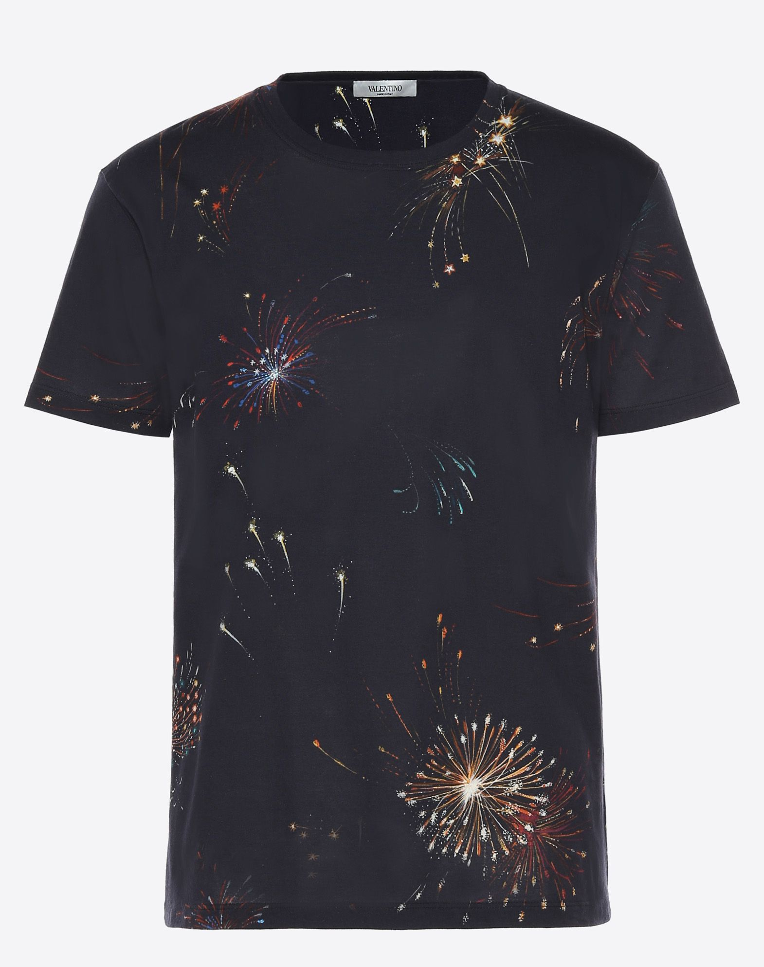 VALENTINO Studs Jersey Round collar Short sleeves  12026770ll