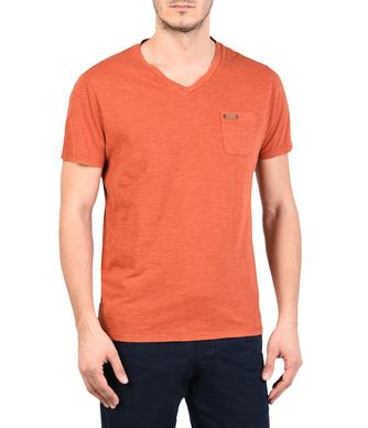 NAPAPIJRI SERIN MAN SHORT SLEEVE T-SHIRT,RUST