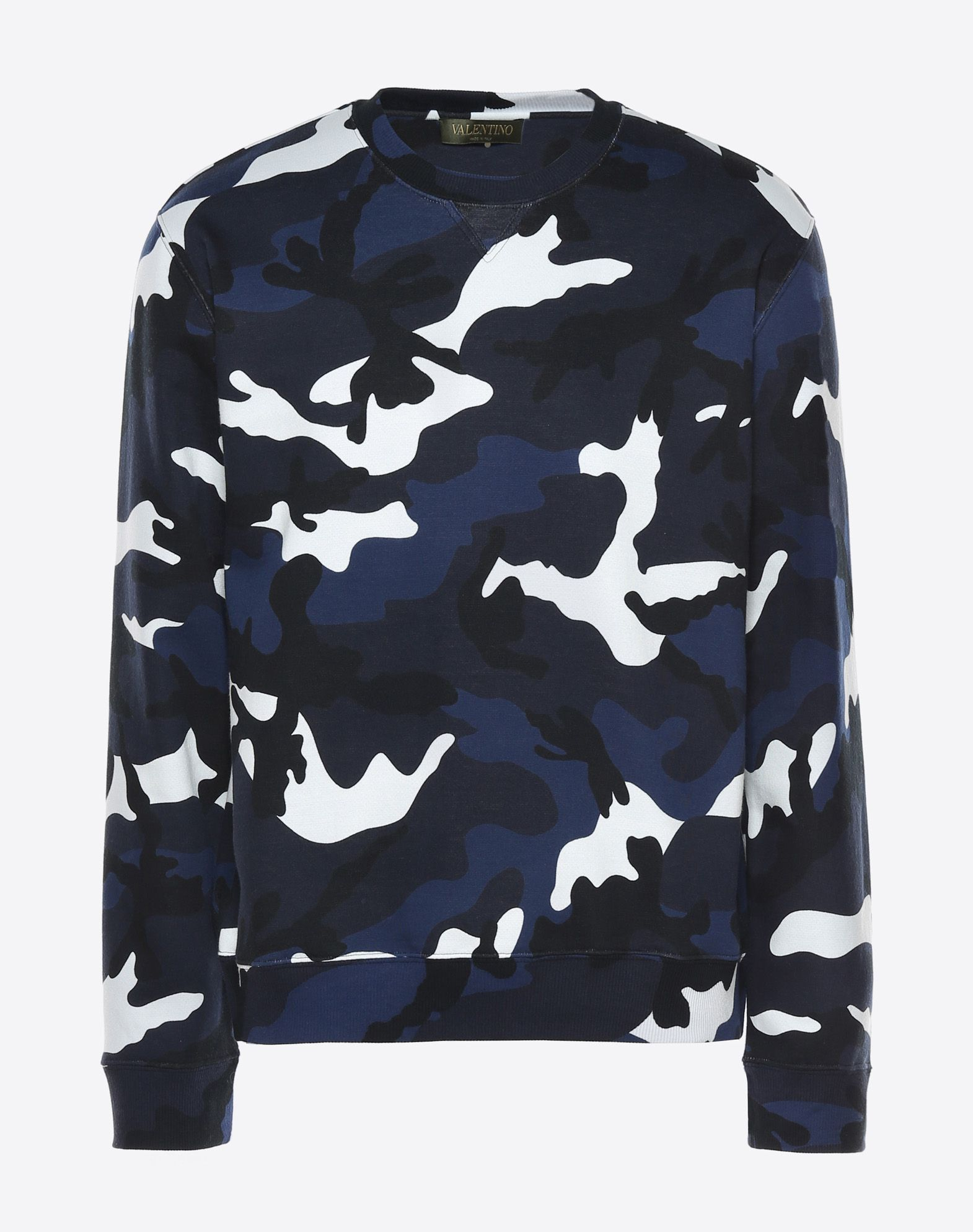 VALENTINO Camouflage design Round collar Long sleeves  12027440vh