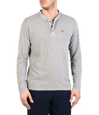 NAPAPIJRI SHENLEY MAN LONG SLEEVE T-SHIRT,LIGHT GREY