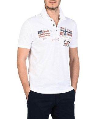 NAPAPIJRI EPAK MAN SHORT SLEEVE POLO,WHITE