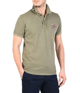 NAPAPIJRI EROL MAN SHORT SLEEVE POLO,MILITARY GREEN