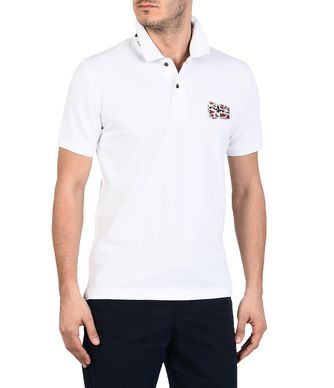 NAPAPIJRI EROL MAN SHORT SLEEVE POLO,WHITE