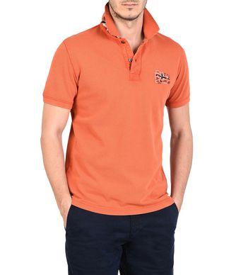 NAPAPIJRI EROL MAN SHORT SLEEVE POLO,RUST