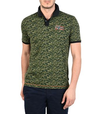 NAPAPIJRI ERSEY MAN SHORT SLEEVE POLO,GREEN