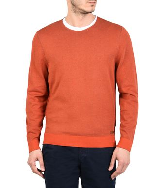 NAPAPIJRI DOMUR MAN CREWNECK SWEATER,RUST