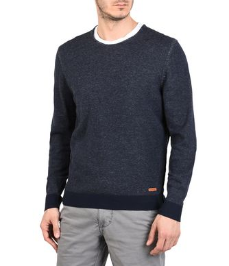 NAPAPIJRI DOMUR MAN CREWNECK SWEATER,DARK BLUE