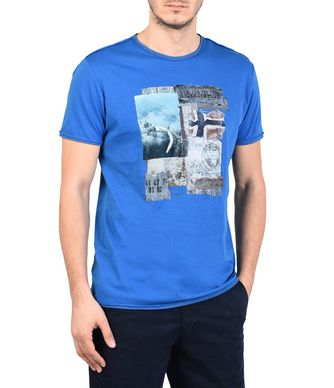 NAPAPIJRI SHELT MAN SHORT SLEEVE T-SHIRT,BLUE