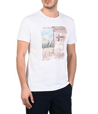 NAPAPIJRI SHELT MAN SHORT SLEEVE T-SHIRT,WHITE