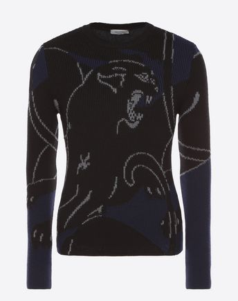 VALENTINO Sweater with panther intarsia 12027648VI