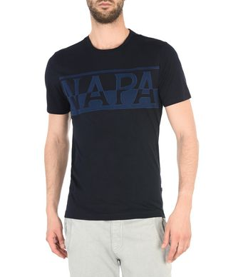 NAPAPIJRI SASLONG SHORT SLEEVES MAN SHORT SLEEVE T-SHIRT,DARK BLUE