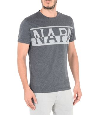 NAPAPIJRI SASLONG SHORT SLEEVES MAN SHORT SLEEVE T-SHIRT,LEAD