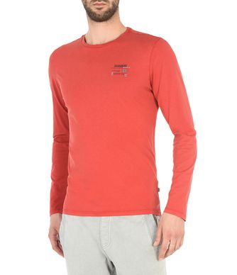 NAPAPIJRI SOAR MAN LONG SLEEVE T-SHIRT,RED