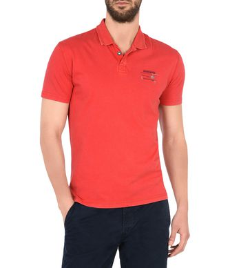 NAPAPIJRI EGEGIK SHORT SLEEVES MAN SHORT SLEEVE POLO,RED