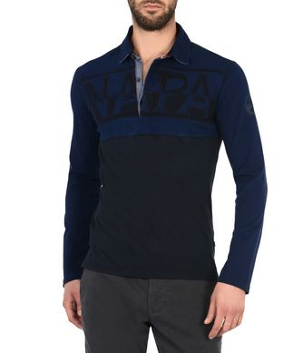 NAPAPIJRI EFIN LONG SLEEVES MAN LONG SLEEVE POLO,DARK BLUE