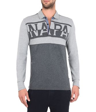 NAPAPIJRI EFIN LONG SLEEVES MAN LONG SLEEVE POLO,GREY