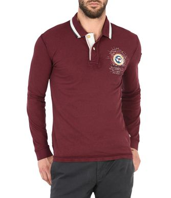NAPAPIJRI GANDY LONG SLEEVES MAN LONG SLEEVE POLO,MAROON