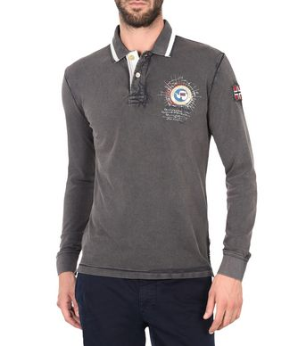 NAPAPIJRI GANDY LONG SLEEVES MAN LONG SLEEVE POLO,LEAD