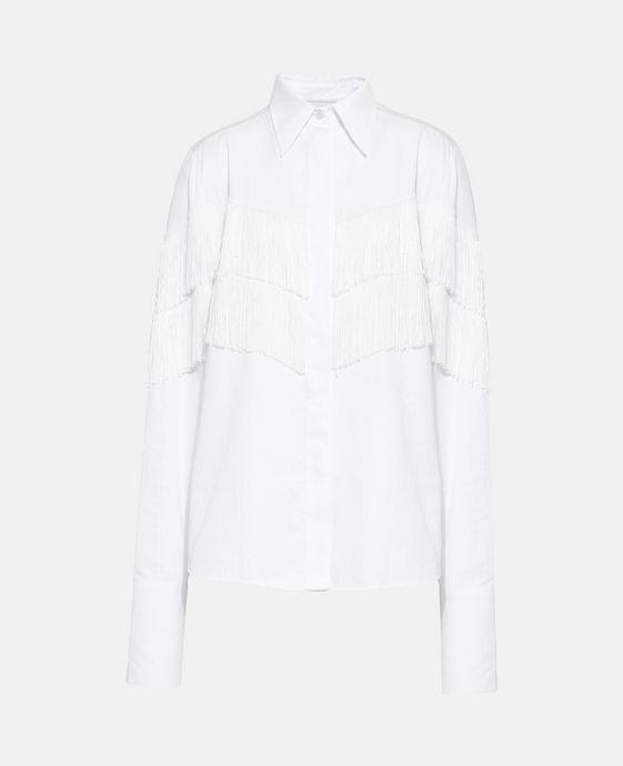 White Alina Fringe Shirt