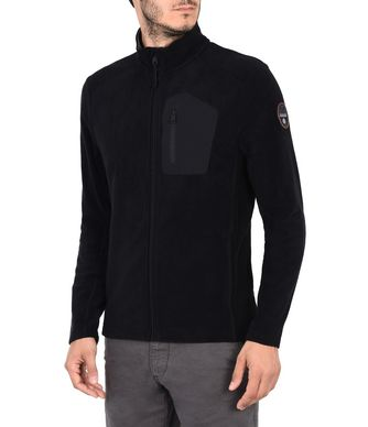 NAPAPIJRI TAMBO FULL ZIP MAN FLEECE,BLACK
