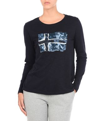 NAPAPIJRI SERELIN WOMAN LONG SLEEVE T-SHIRT,DARK BLUE