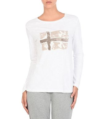 NAPAPIJRI SERELIN WOMAN LONG SLEEVE T-SHIRT,WHITE