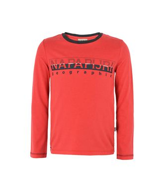 NAPAPIJRI K SABIN KID LONG SLEEVE T-SHIRT,RED