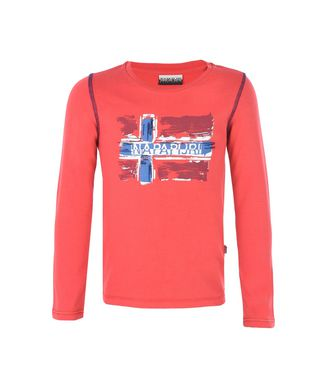 NAPAPIJRI K SACHS LONG SLEEVES KID KID LONG SLEEVE T-SHIRT,RED