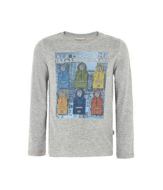 NAPAPIJRI K SAJAMA KID LONG SLEEVE T-SHIRT,GREY