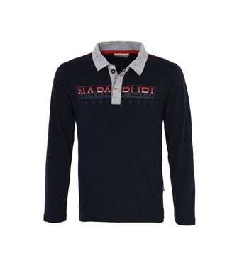 NAPAPIJRI K EGEK KID LONG SLEEVE POLO,DARK BLUE