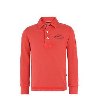 NAPAPIJRI K ELBAS LONG SLEEVES KID ENFANT POLO MANCHES LONGUES,ROUGE