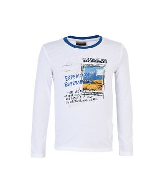 NAPAPIJRI K SAVOONGA KID LONG SLEEVE T-SHIRT,WHITE