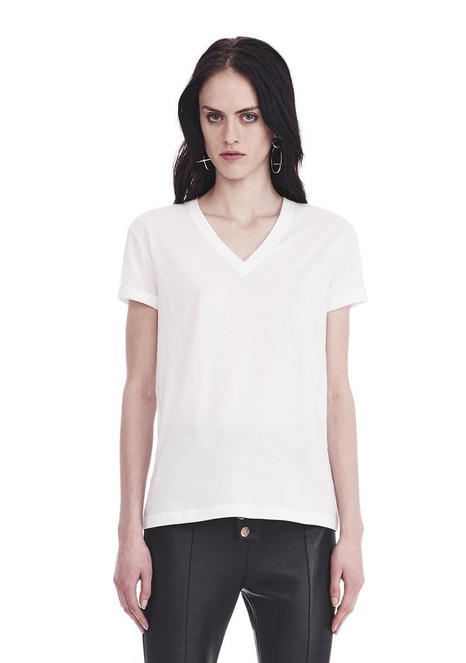 T by ALEXANDER WANG t-shirts SUPERFINE JERSEY V-NECK TEE